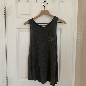 French Pastry grey tank top